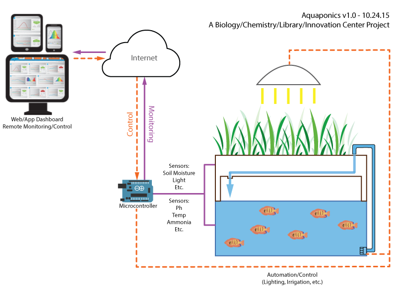 Aquaponics Conceptual Diagram